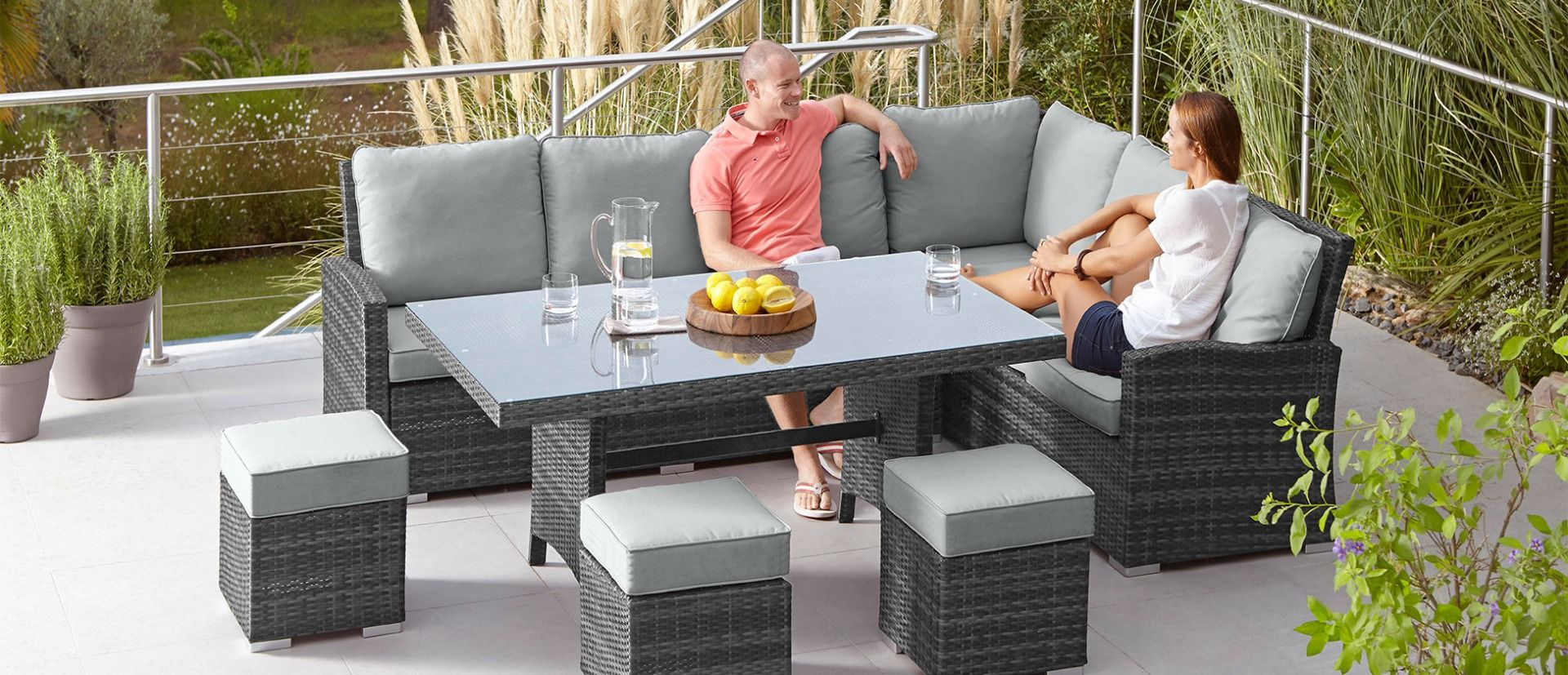 rattan patio table and chairs> OFF 9