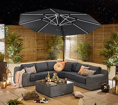 Shop our Galaxy Cantilever Parasol