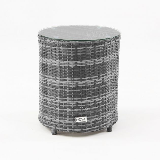 Classic Round Gas Bottle Cover Side Table - Grey