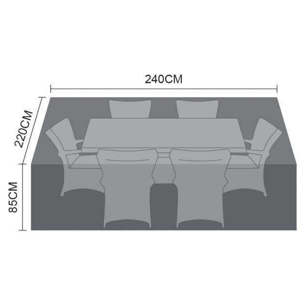 Cover for 6 Seat Rectangular Dining Set - 240cm x 220cm x 85cm