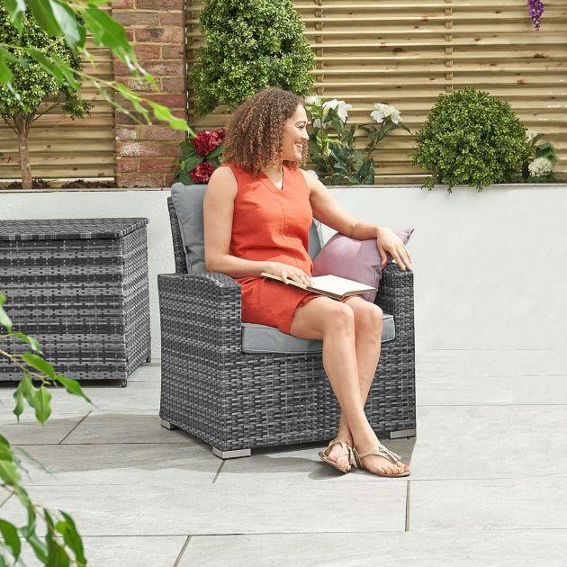 Cambridge Lounge Armchair - Grey