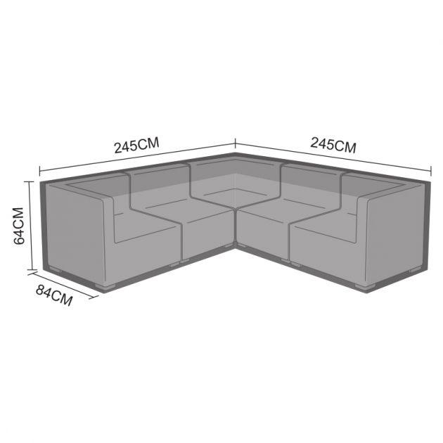 Cover for L-Shaped Chelsea Corner Sofa Set - 245cm x 245cm x 84cm x 64cm