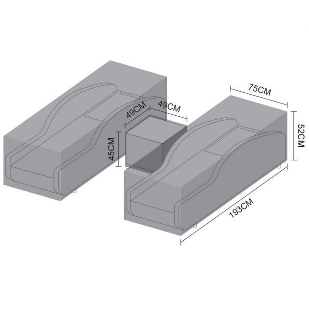 Cover Pack for Nova Madison Sun Lounger Set - 193cm x 75cm x 52cm