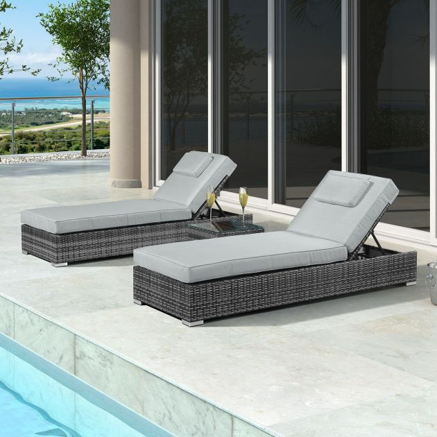 Rimini Sun Lounger Set - Grey