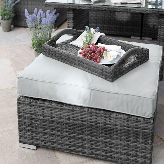 Large Stool for Chelsea Corner Sofa Set - Grey