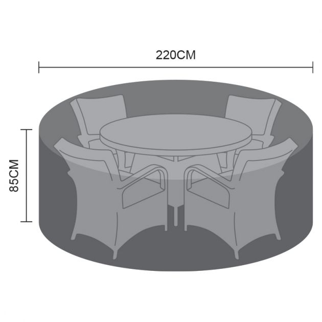Cover for 4 Seat Round Dining Set - 220cm x 85cm