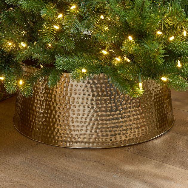 60cm Metal Christmas Tree Skirt - Gold