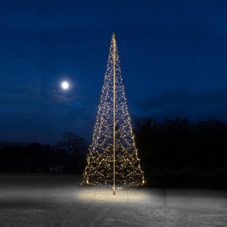 Fairybell 10m 2000 Warm White LED Outdoor Christmas Tree