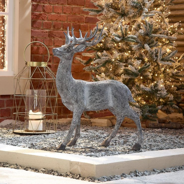 Promise the 76cm Grey Proud Standing Christmas Reindeer