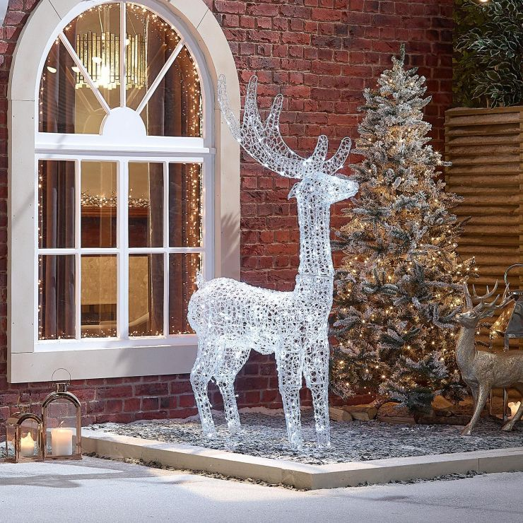 Miracle the 180cm Soft Acrylic Christmas Reindeer