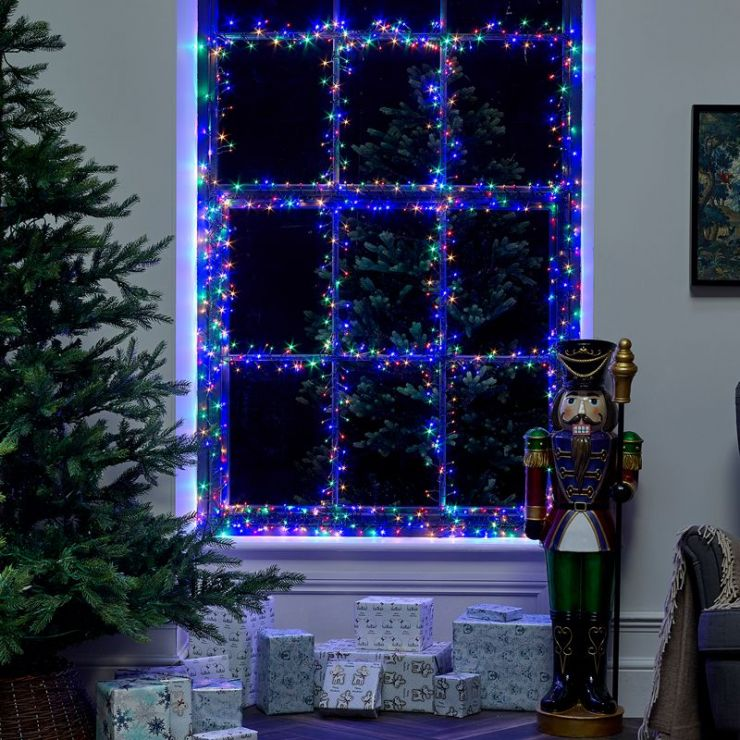 960 Multi Colour LED Cluster Christmas Lights (13.9m Lit Length)