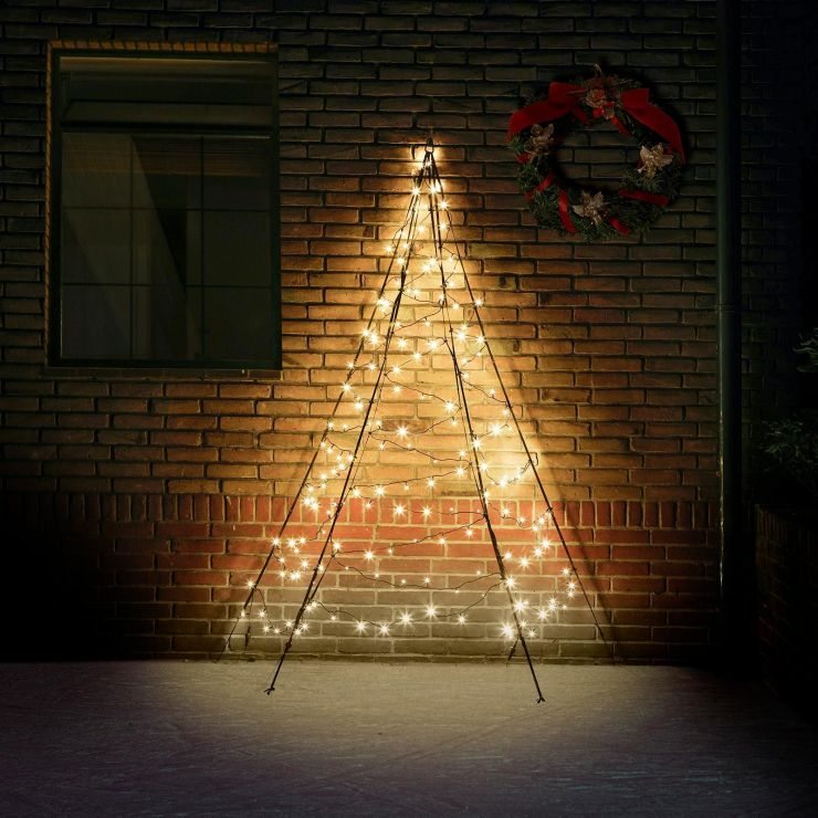 Fairybell 2m 180 Warm White LED Outdoor Wall Christmas Tree