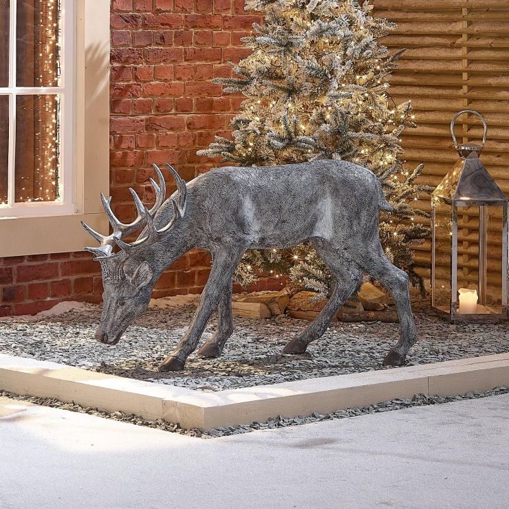 Rasha the 115cm Grey Christmas Reindeer