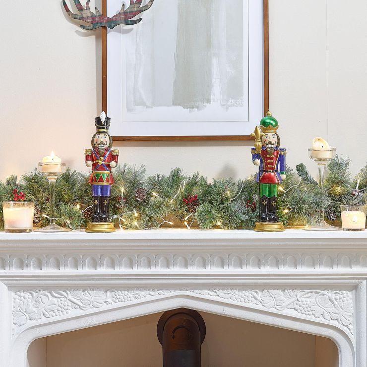 Pair of 1ft Augustine & Augustus Christmas Nutcrackers