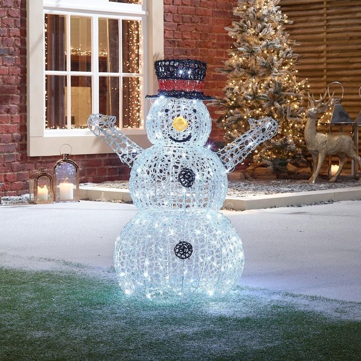 Flurry the 90cm Soft Acrylic Christmas Snowman