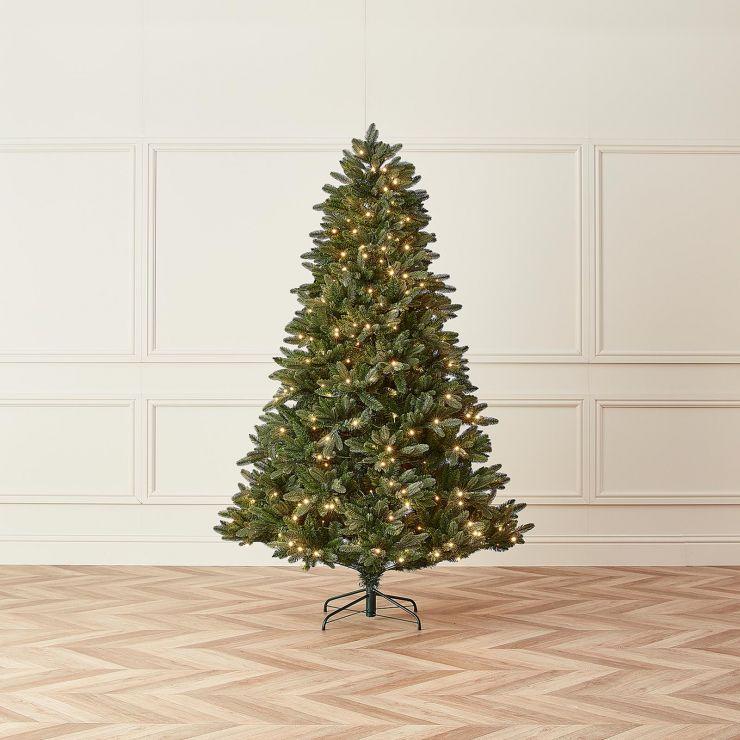 7ft Pre-Lit Michigan Fir Artificial Christmas Tree
