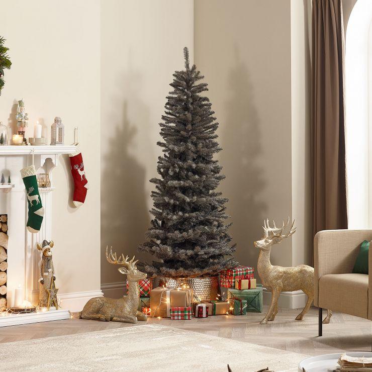 7ft Slim Grey Balsam Fir Artificial Christmas Tree