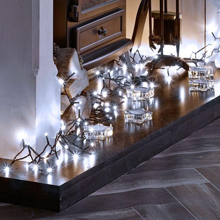 600 Cool White LED Christmas Lights (30m Lit Length)