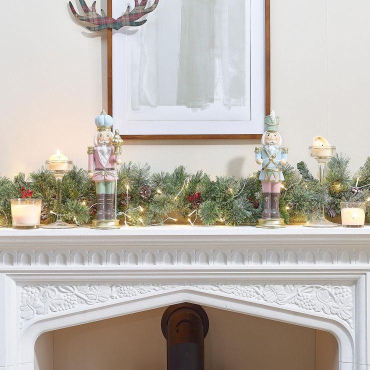 Pair of 1ft Gunter Pastel Christmas Nutcrackers