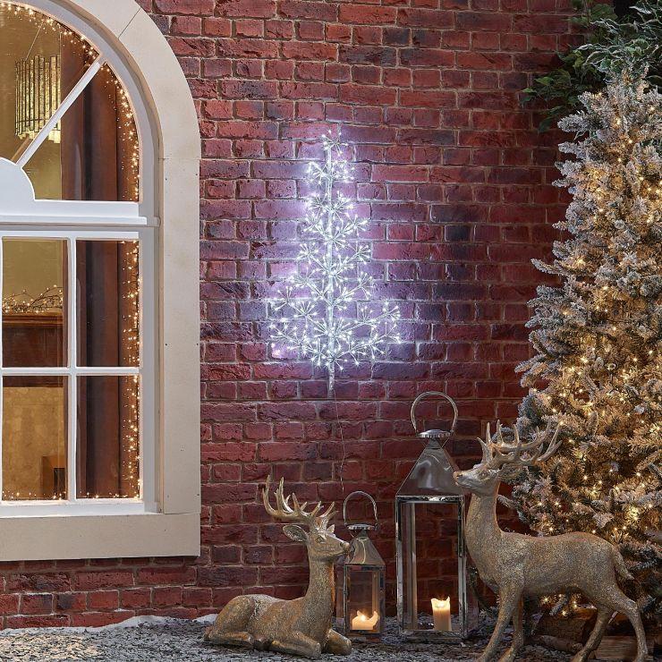 90cm Starburst Christmas Tree - Cool White