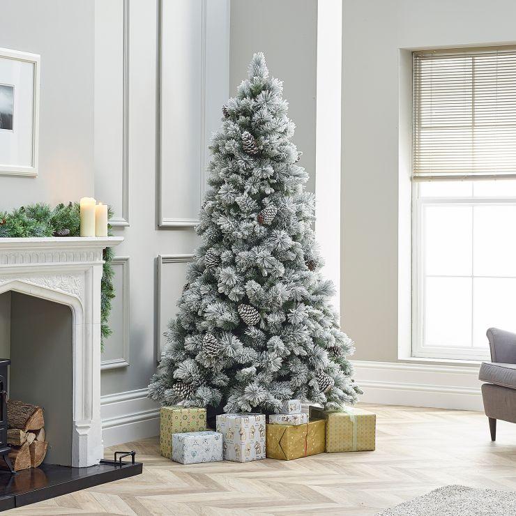 6ft Snowy Virginia Pine Artificial Christmas Tree
