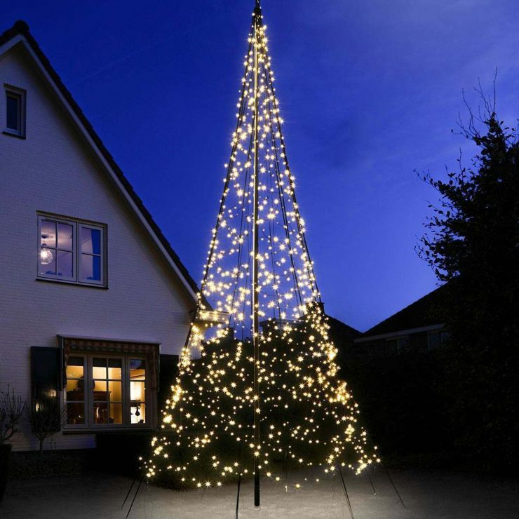 Fairybell 6m 900 Warm White LED Outdoor Christmas Tree with Sectional Flagpole