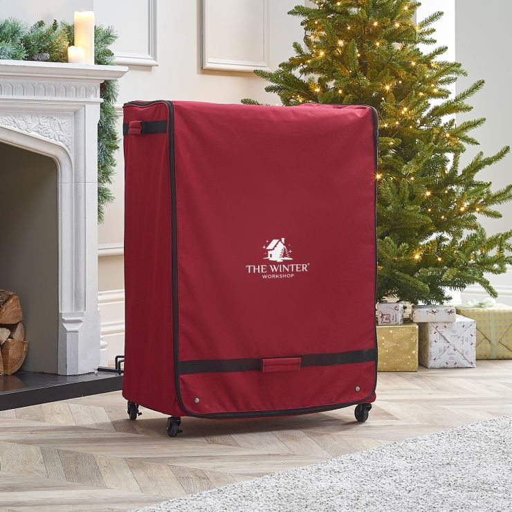 Large Christmas Ornament Storage Rolling Chest (120 Pieces)