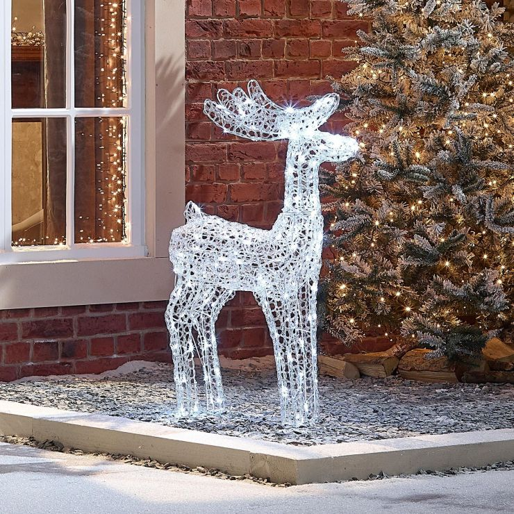 Miracle the 100cm Soft Acrylic Christmas Reindeer