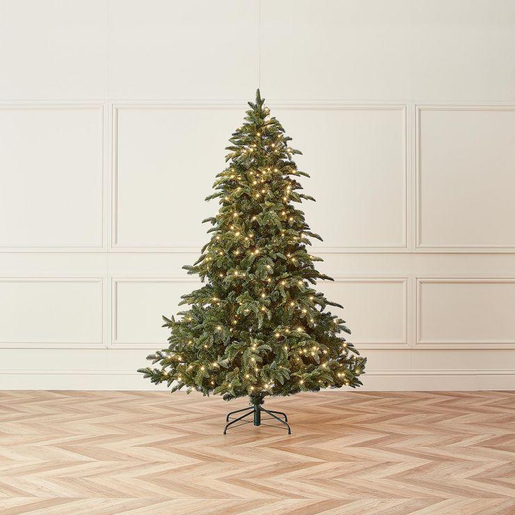 7ft Pre-Lit Noble Pine Artificial Christmas Tree