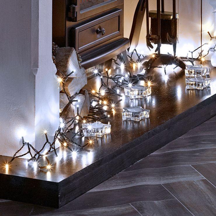 800 Cool & Warm White Mix LED Christmas Lights (40m Lit Length)