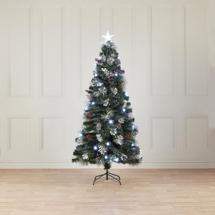 6ft Fibre Optic Deluxe Forest Pine Artificial Christmas Tree