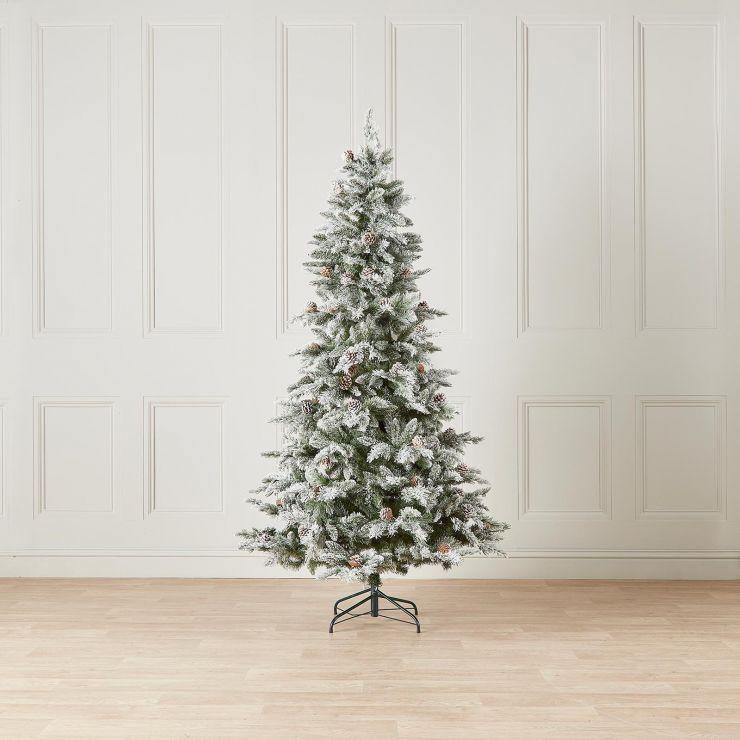 7ft Slim Snowy Grand Fir Artificial Christmas Tree