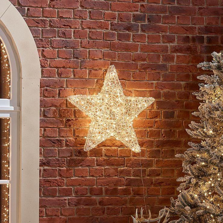 70cm Soft Acrylic Christmas Star - Warm White