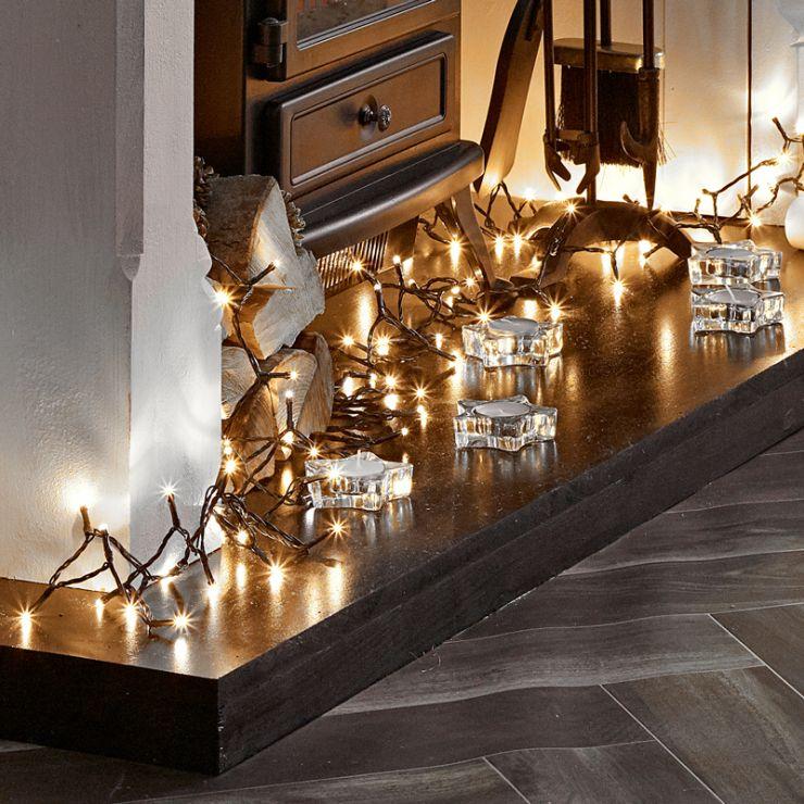 600 Warm White LED Christmas Lights (30m Lit Length)