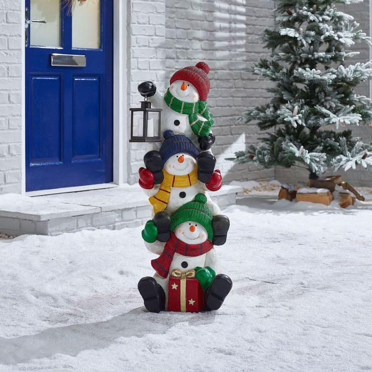 90cm Stacking Snowmen