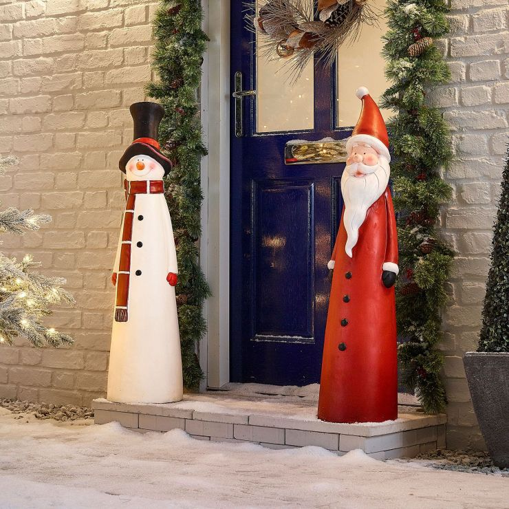 The Large Mr Snow and Father Christmas Duo