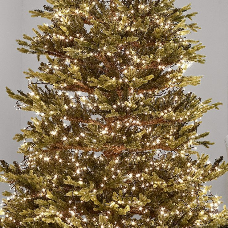 750 Warm White LED Compact Cluster Christmas Tree Lights (18.7m Lit Length)