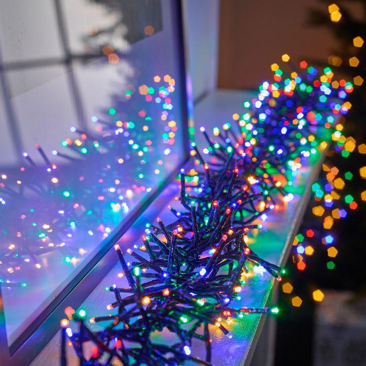 960 Multi Colour LED Cluster Christmas Lights (13.9m Lit Length)