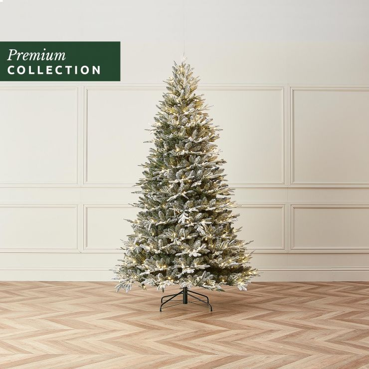 6.5ft Pre-Lit Frosted Scotch Pine Click & Connect Artificial Christmas Tree