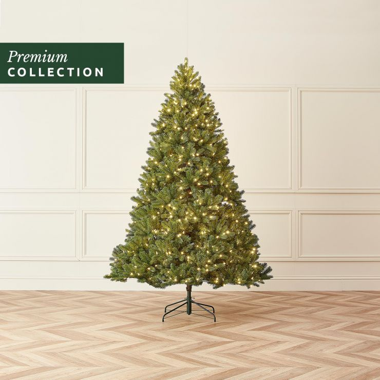 6.5ft Pre-Lit Douglas Fir Click & Connect Artificial Christmas Tree