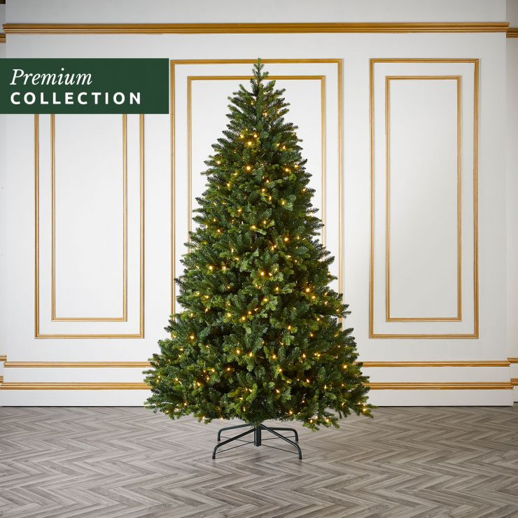 7.5ft Pre-Lit Richmond Fir Click & Connect Artificial Christmas Tree