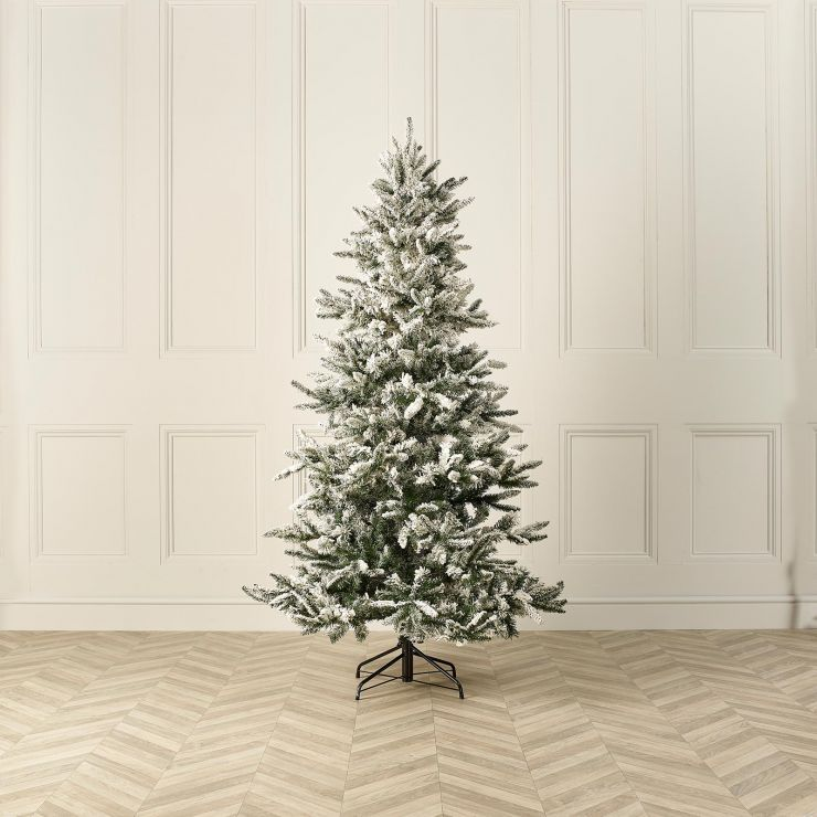 7ft Snowy Lowland Fir Artificial Christmas Tree