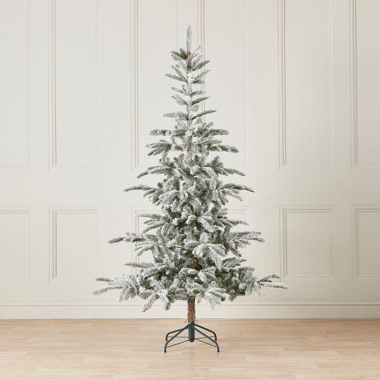 7ft Snowy Nobilis Fir Artificial Christmas Tree