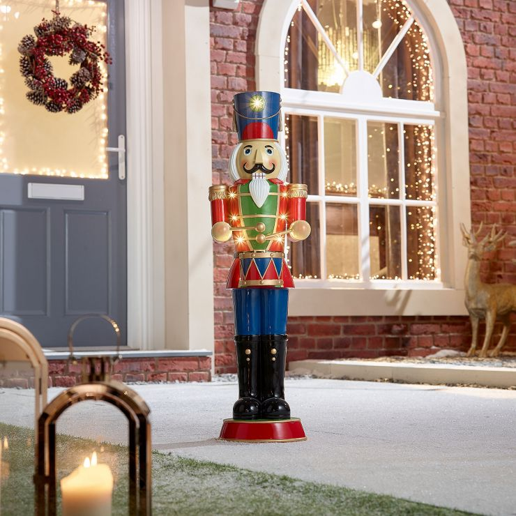 Noel the 3ft Red Christmas Nutcracker with Drum