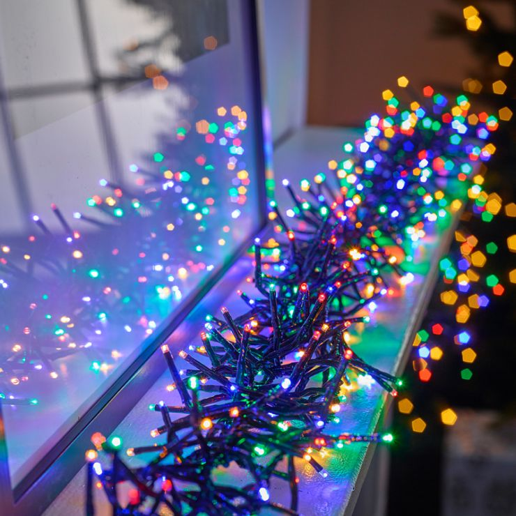 480 Multi Colour LED Cluster Christmas Lights (6.9m Lit Length)