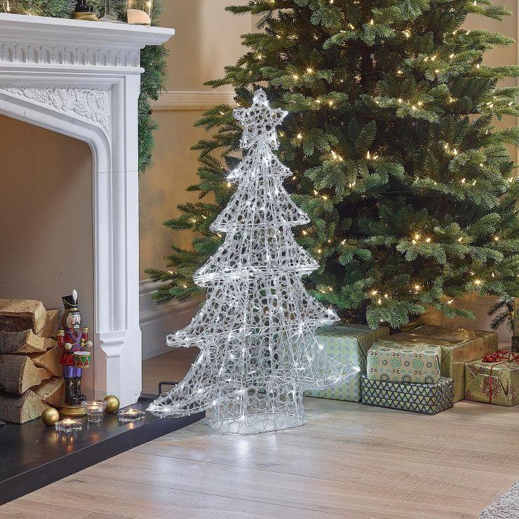 100cm Soft Acrylic Christmas Tree - Cool White