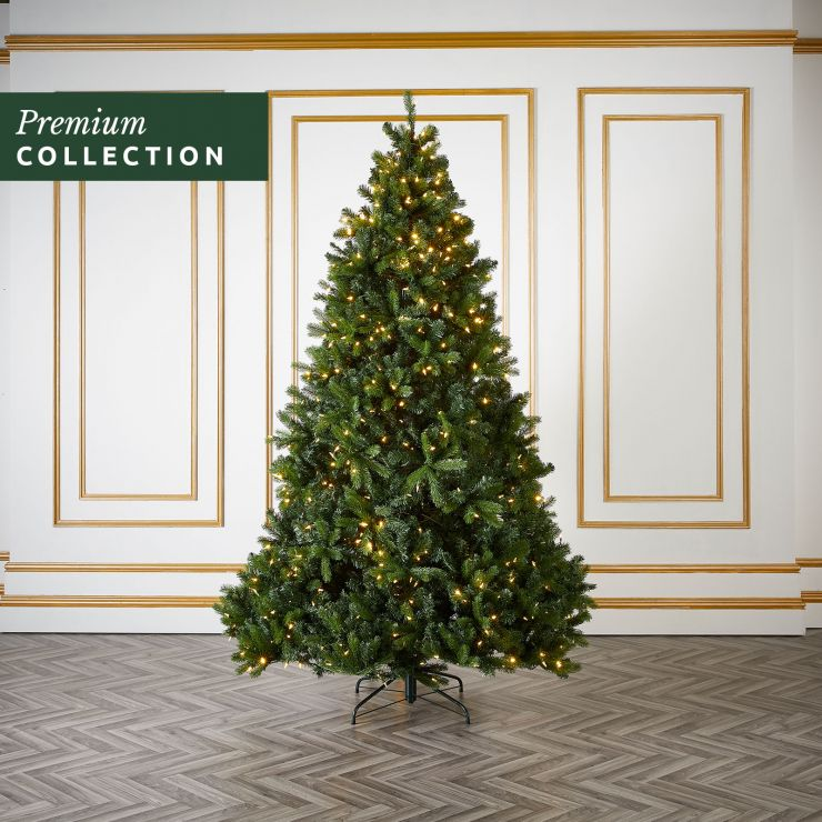 7.5ft Pre-Lit Douglas Fir Click & Connect Artificial Christmas Tree