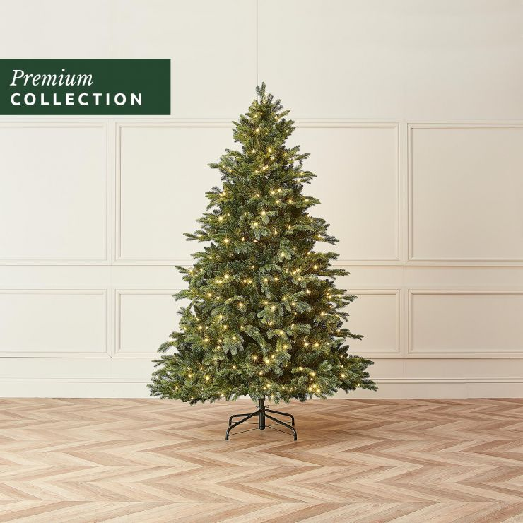 7.5ft Pre-Lit Fraser Fir Click & Connect Artificial Christmas Tree