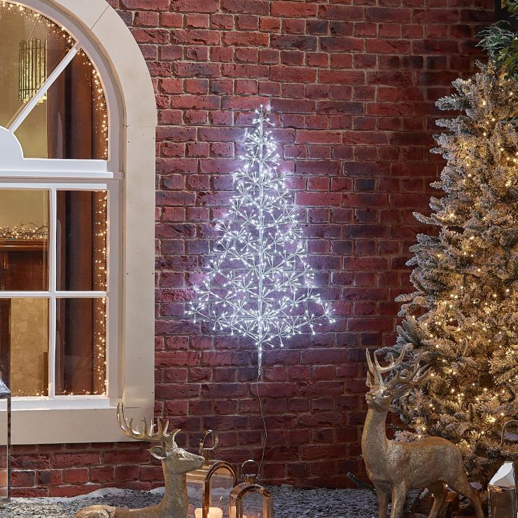 120cm Starburst Christmas Tree - Cool White