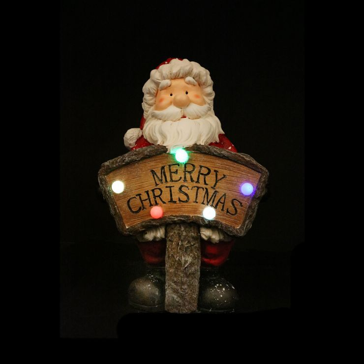 Chuckles the 41cm Red Santa with LED Sign
